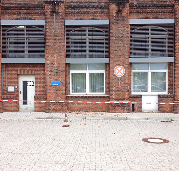 Bild:Fassadenschaden an einem von uns betreuten Gebäude